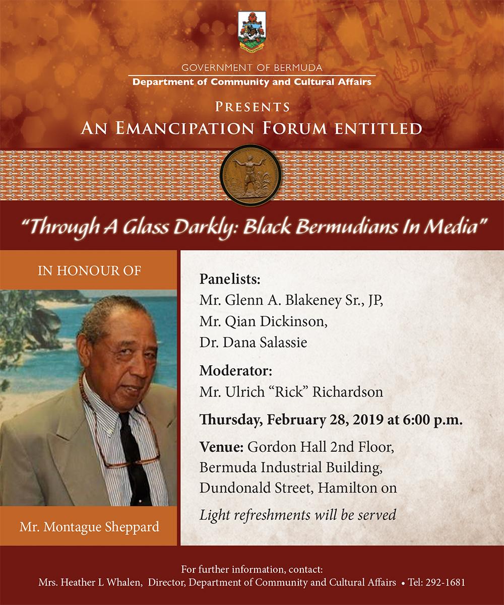 An Emancipation Forum entitled Bermuda Feb 26 2019