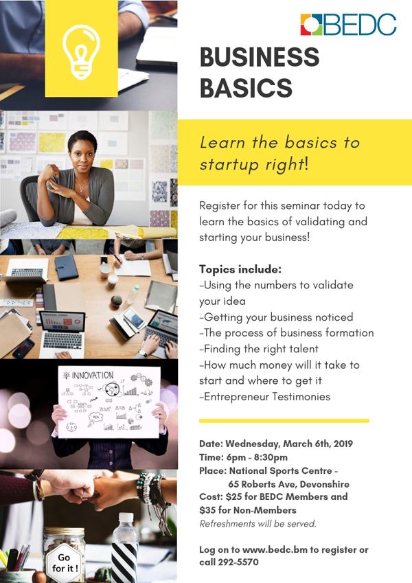 BEDC's Business Basics Seminar Bermuda March 2019