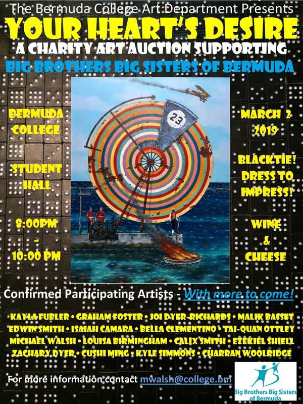 Bermuda College Charity Art Auction Feb 2019