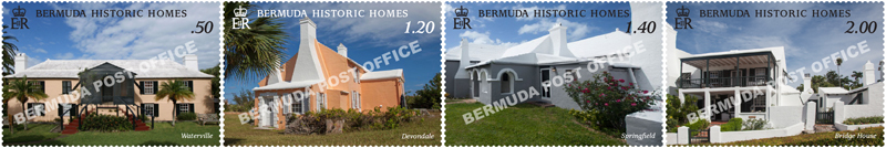 Bermuda National Trust Historic Homes Stamps Feb 2019