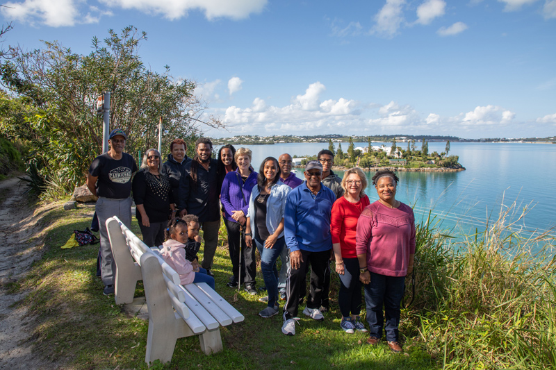 Eugene's bench family & friends Bermuda Feb 2019 (2)