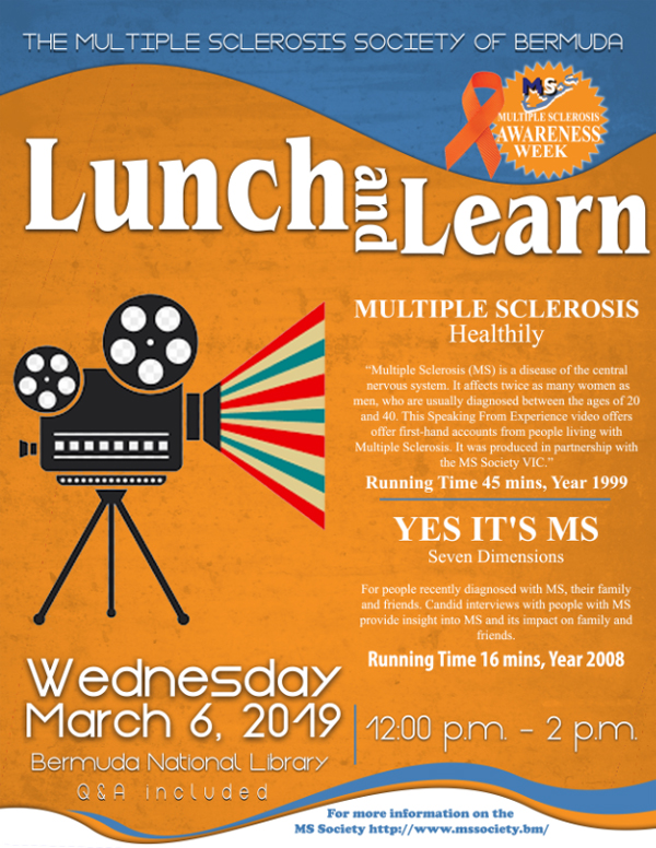 MS Society Lunch and Learn Bermuda March 2019