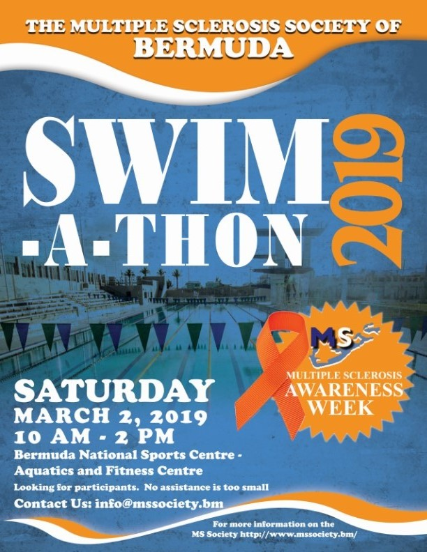 MS Society Swim a thon Bermuda March 2019
