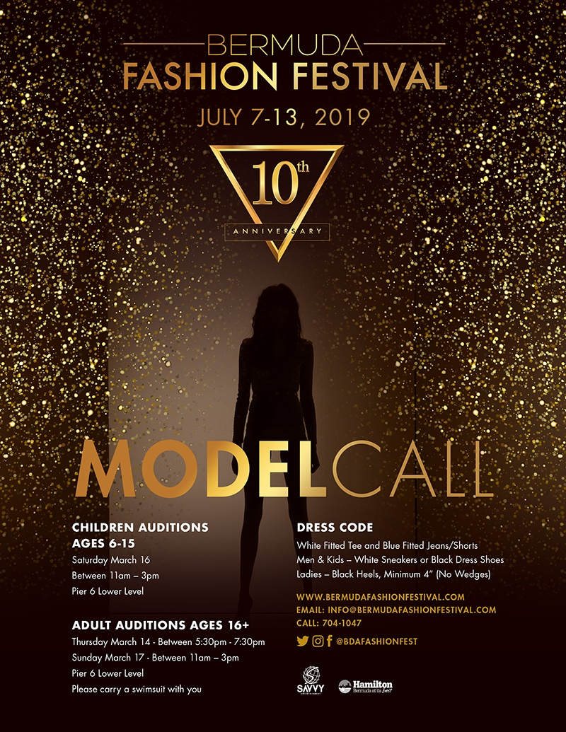 Model Call Bermuda Feb 20 2019
