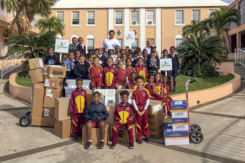 Support Public Schools Team Delivering Supplies Bermuda, February 27 2019-08-2