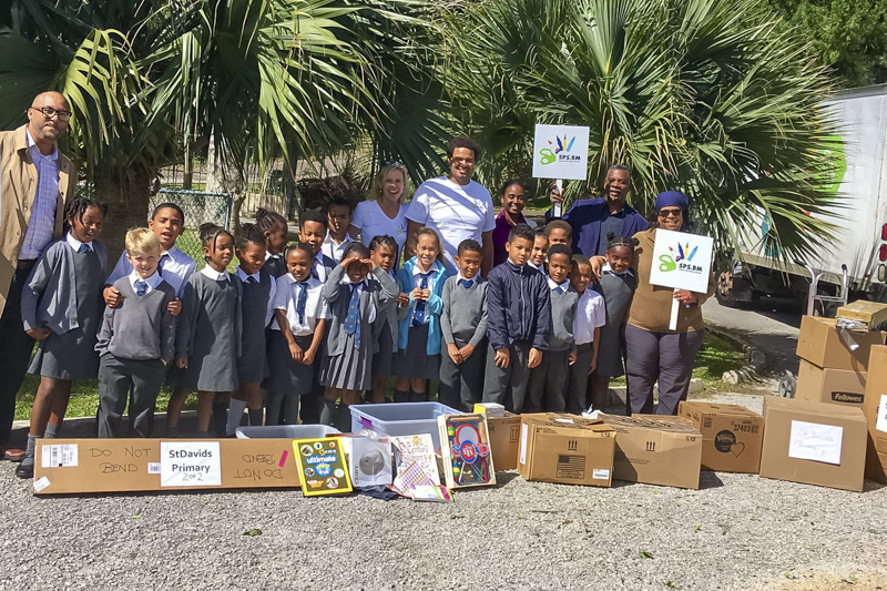 Support Public Schools Team Delivering Supplies Bermuda, February 27 2019-08-9