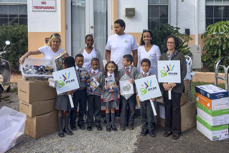 Support Public Schools Team Delivering Supplies Bermuda, February 27 2019-09-2