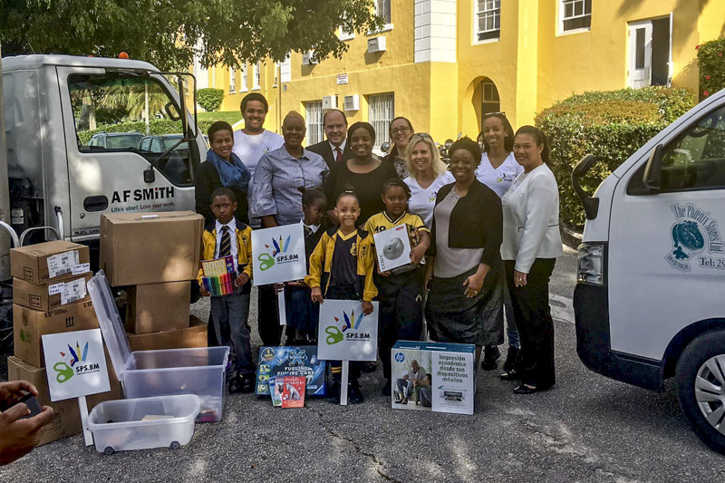 Support Public Schools Team Delivering Supplies Bermuda, February 27 2019-09