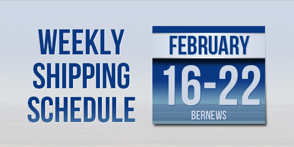 Weekly Shipping Schedule TC Feb 16-22 2019