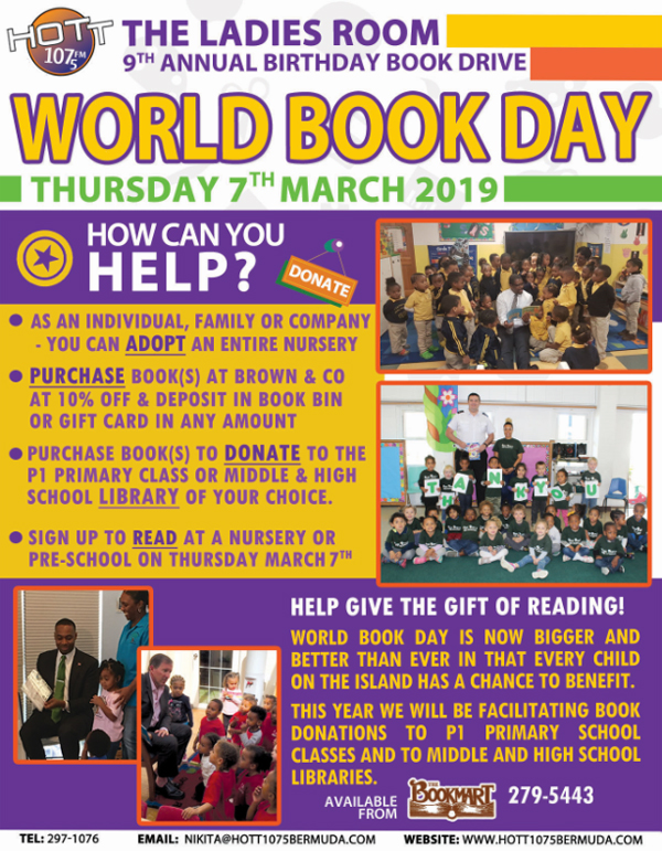 World Book Day Bermuda March 2019