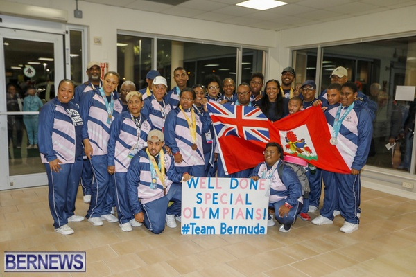 Bermuda Special Olympics team march 2019