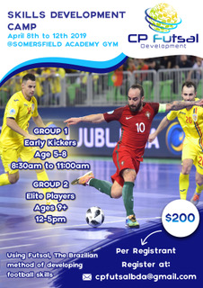 CP Futsal Skills Development Camp Bermuda March 28 2019