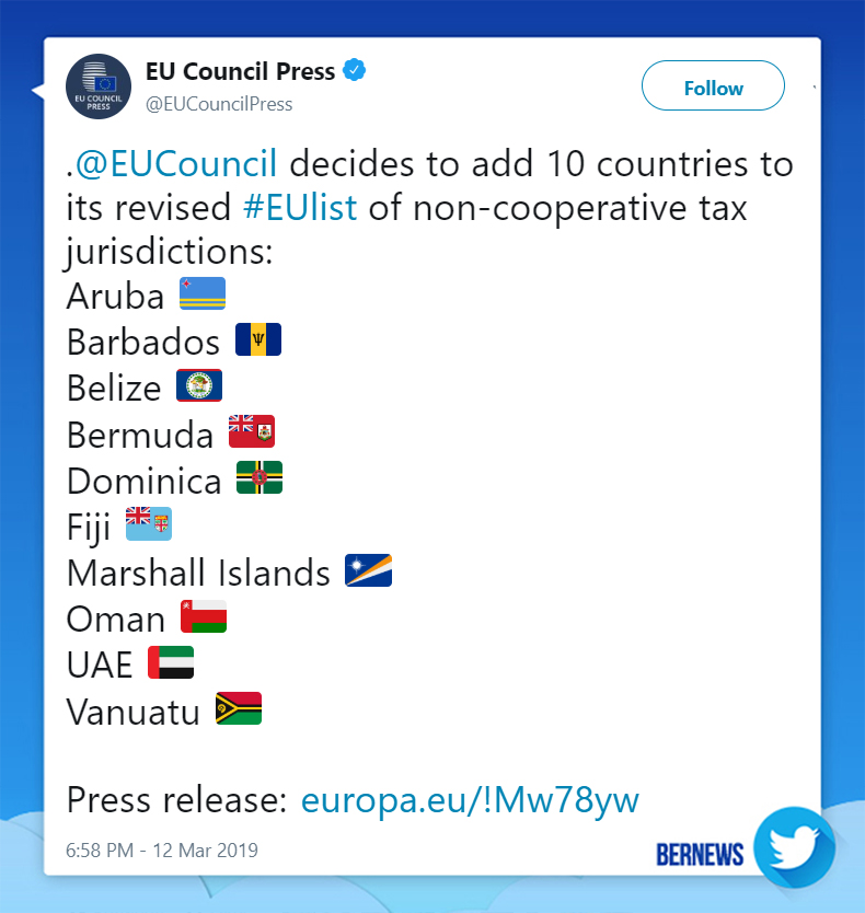 EU Council Press tweet March 12 2019