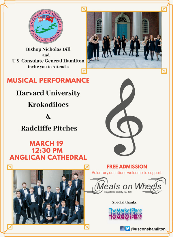 Harvard Singing Groups Bermuda March 2019