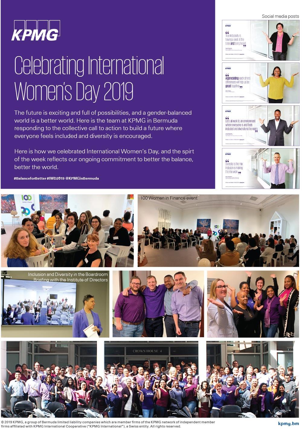 IWD event collage Bermuda March 8 2019