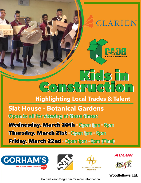 Kids in Construction Bermuda March 2019