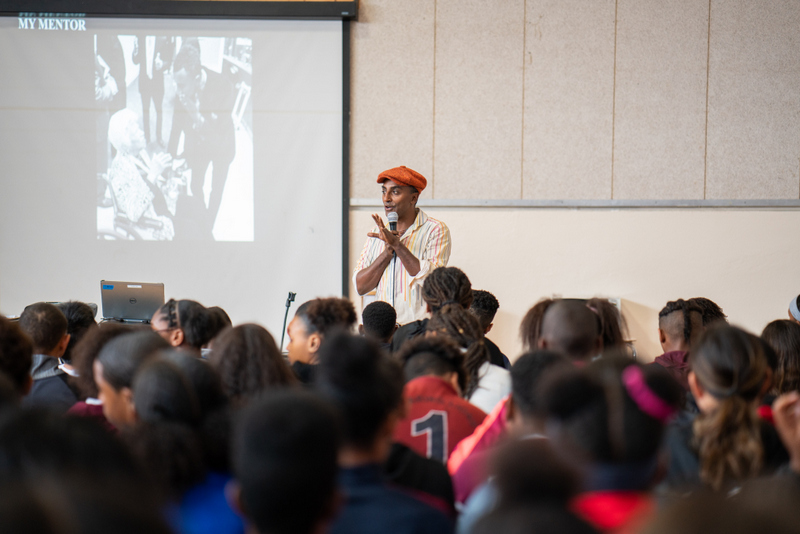 Marcus Samuelsson assembly at Dellwood Middle School, Bermuda March 2019 (11)