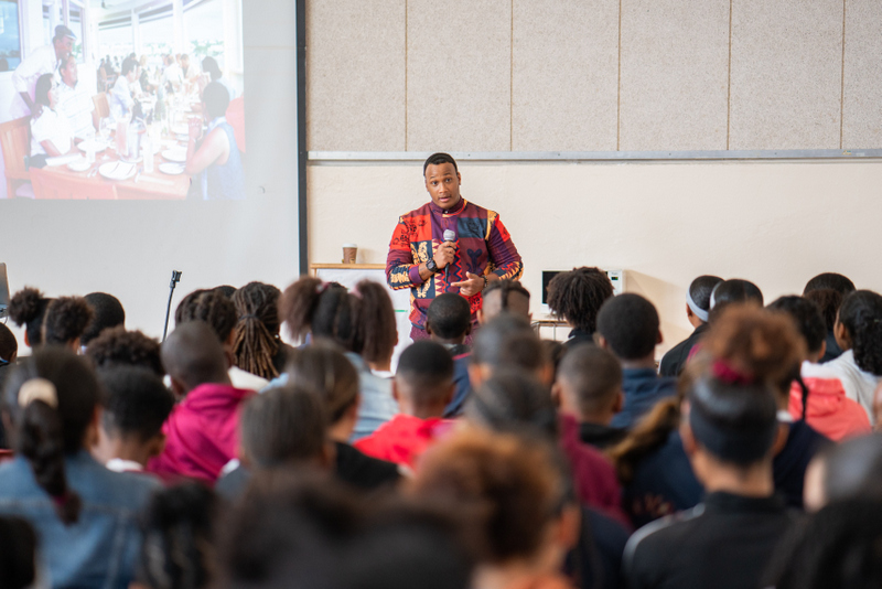 Marcus Samuelsson assembly at Dellwood Middle School, Bermuda March 2019 (13)