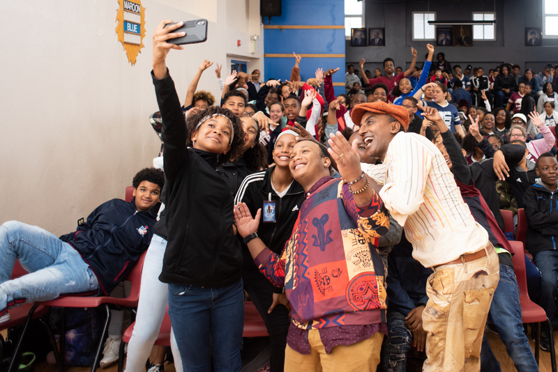 Marcus Samuelsson assembly at Dellwood Middle School, Bermuda March 2019 (3)