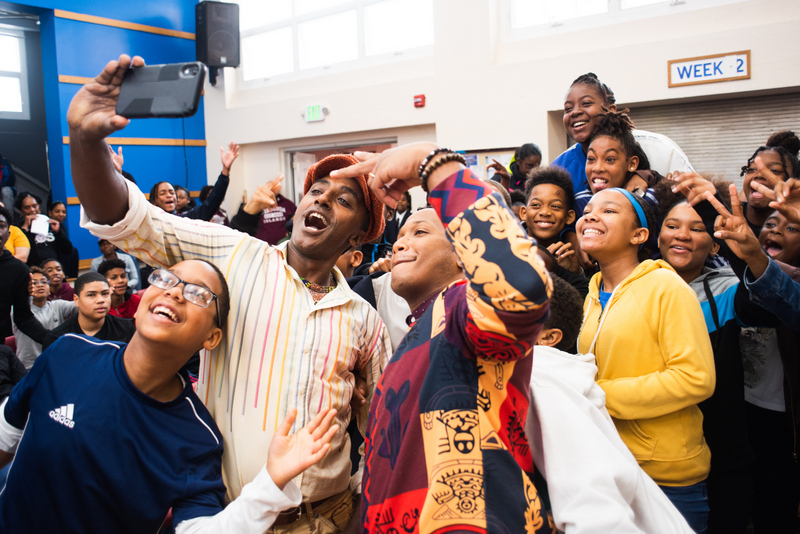 Marcus Samuelsson assembly at Dellwood Middle School, Bermuda March 2019 (6)