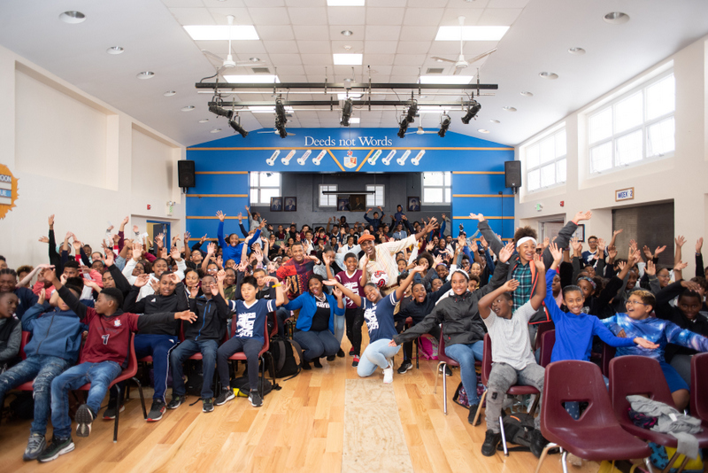 Marcus Samuelsson assembly at Dellwood Middle School, Bermuda March 2019 (7)