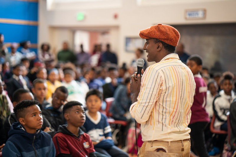 Marcus Samuelsson assembly at Dellwood Middle School, Bermuda March 2019 (9)