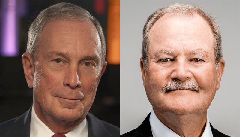 Michael Bloomberg and Brian Duperreault Bermuda March 2019