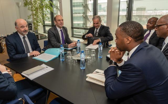 Premier David Burt meets with Pierre Moscovici Bermuda March 2019 (2)