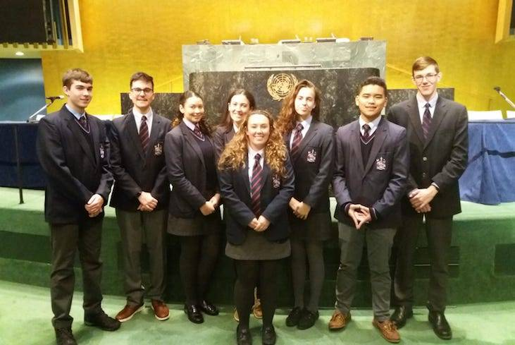 Saltus students attend UN conference March 2019 (1)
