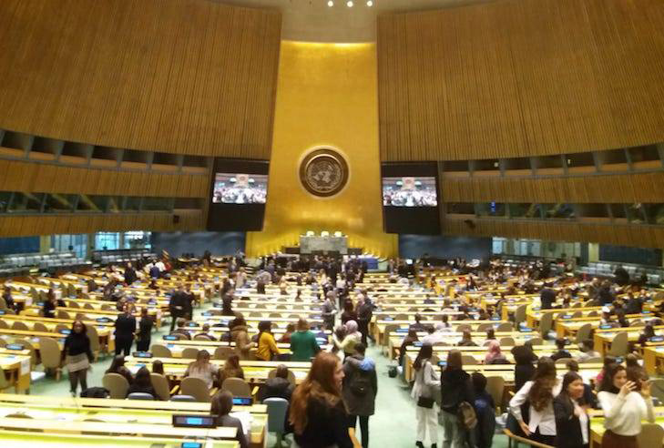 Saltus students attend UN conference March 2019 (2)