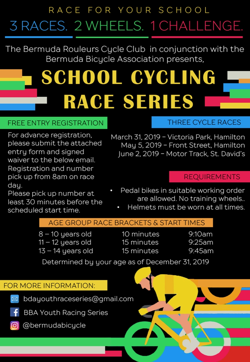 School Cycling Race Series Poster