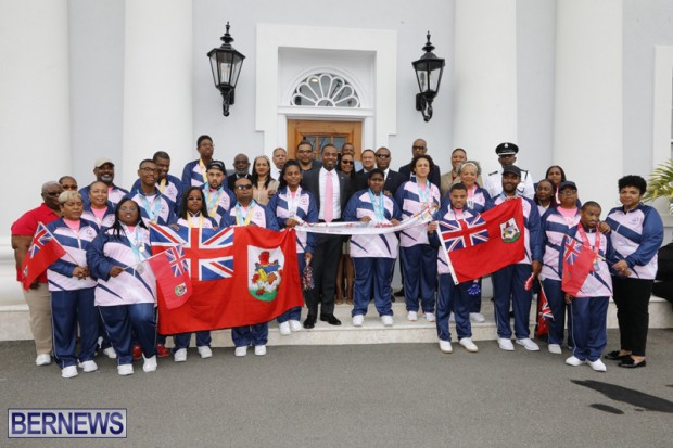 Special Olympians at Cabinet Office Bermuda March 25 2019
