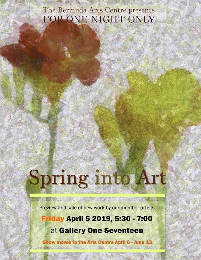 Spring into Art invite
