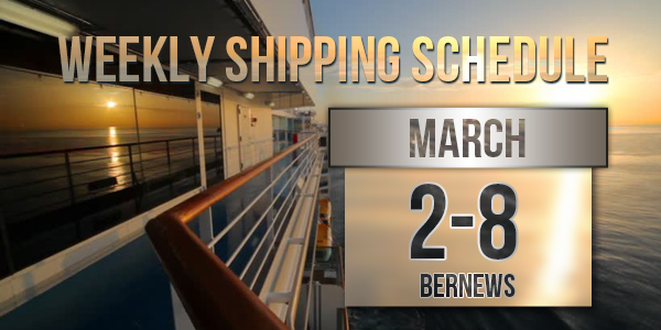 Weekly Shipping Schedule TC March 2 - 8 2019