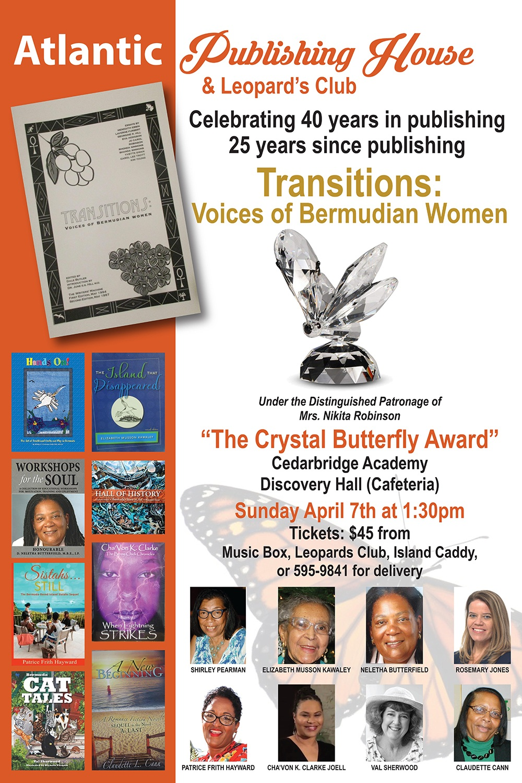 cyrstal butterfly award Bermuda March 25 2019