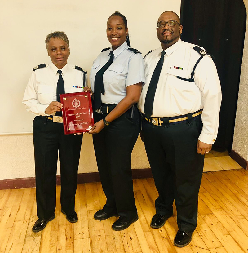 BRP Officer of the Year 2018 Constable Samantha Savoury Bermuda April 19 2019