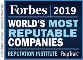 Bacardi World's Most Reputable Companies Bermuda April 2019