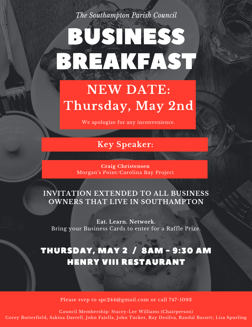 Black and Red Business People Business Poster Bermuda April 24 2019