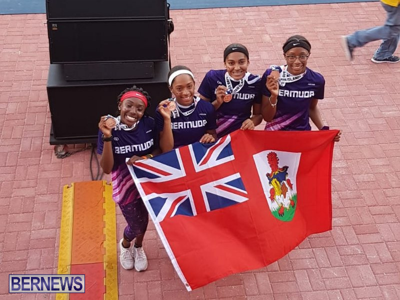 CARIFTA Games Bermuda U17 Relay Team Flag, April 22 2019