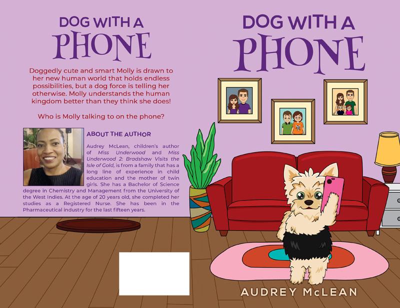 Dog With A Phone Bermuda April 2019