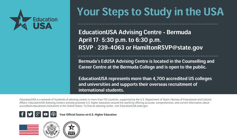 EdUSA Information Event Bermuda April 2019