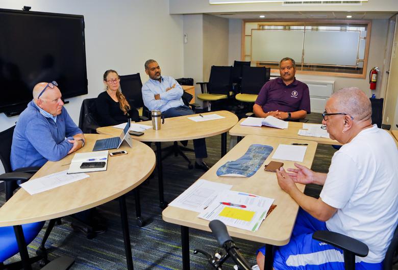 Minister Burch with senior waste team Bermuda April 2019 (2)