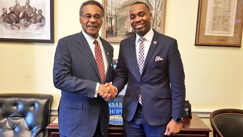 Premier David Burt and Emanuel Cleaver April 2019