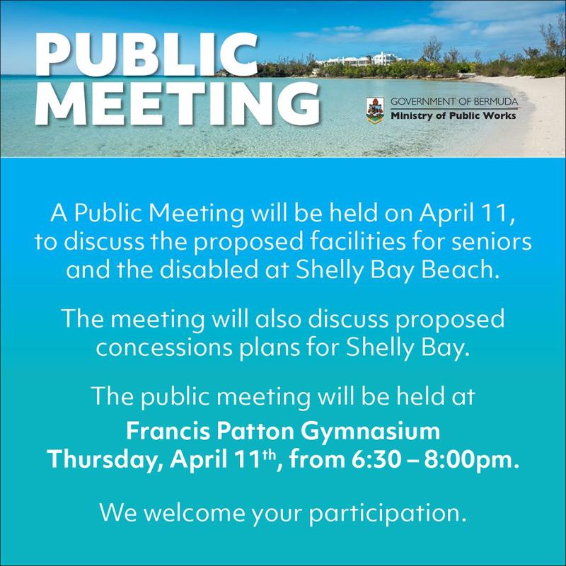 Public Meeting Shelly Bay Bermuda April 2019