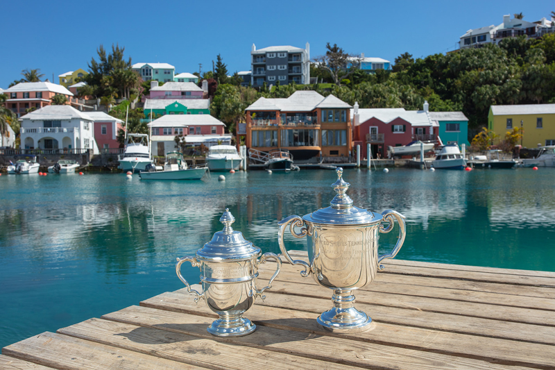 US Open trophies on vacation out here at Flatts Village April 2019