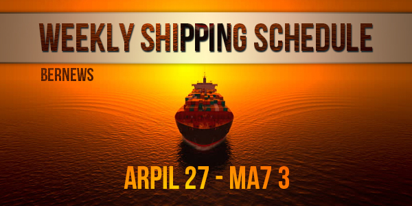 Weekly Shipping Schedule TC April 27 - May 3 2019