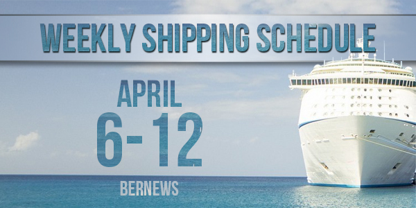 Weekly Shipping Schedule TC April 6 - 12 2019