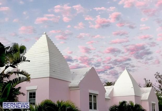 bermuda houses roof generic pink clouds 2323