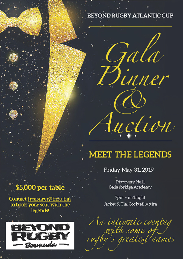 Beyond Rugby Gala Dinner Bermuda May 20 2019