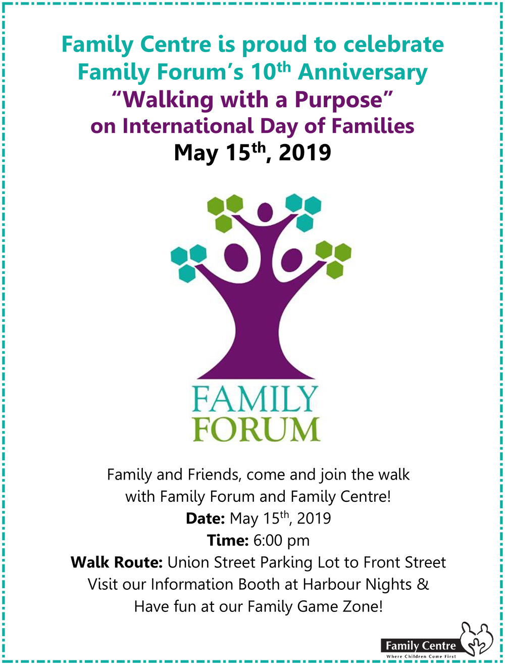 Family Forum 10th  Anniversary Event Flyer May 15 2019